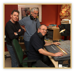Fellow band members Laurie and Jim in my studio